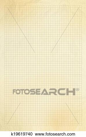 Stock Photography Of Blank Millimeter Old Graph Paper Grid Sheet