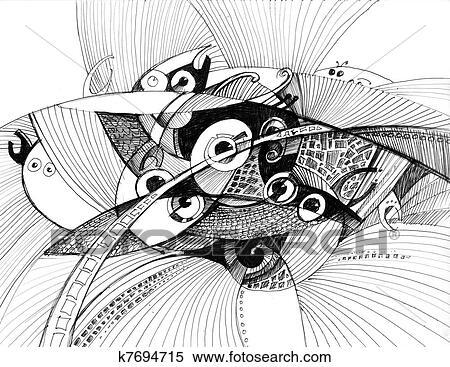 Konstrukce Delat Resume Kresleni Ilustrace Z Mnoziny K7694715