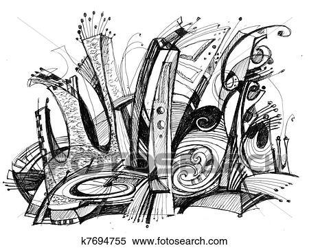 Ilustrace Z Mnoziny Konstrukce Delat Resume Kresleni K7694755