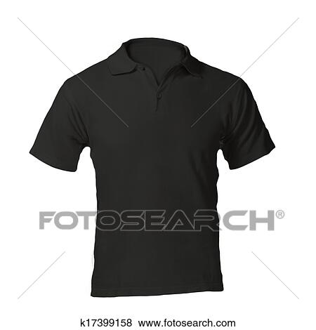Pictures Of Mens Blank Black Polo Shirt Template K17399158