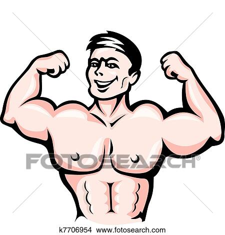 clipart of athlete with muscles k7706954 search clip art rh fotosearch com