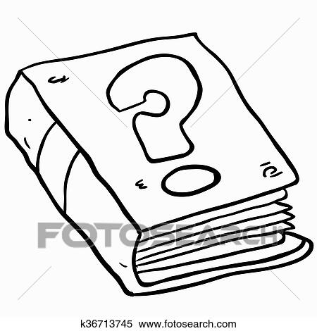 cartoon buch clip art black and white