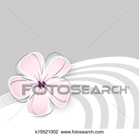 Clipart of cute flower background k19521002 search clip art soft pink flower against light grey background mightylinksfo