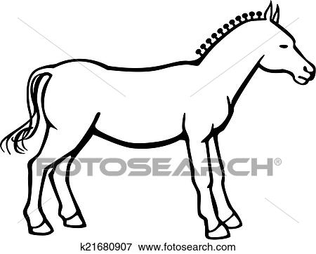 clip art of horse with button braid k21680907 search clipart rh fotosearch com Sewing Button Clip Art Sewing Button Clip Art