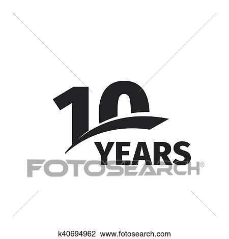 isolated abstract black 10th anniversary logo on white background rh fotosearch com 50th Anniversary Logos Clip Art 50th Anniversary Clip Art