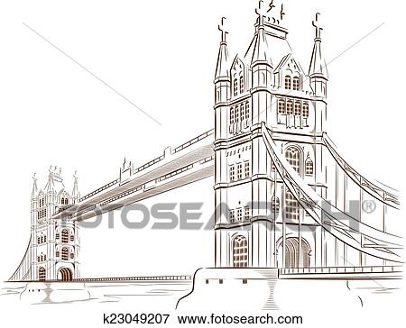 architectural drawings of bridges. A Vector Image Of An Architectural Landmark Britain: London Bridge. This  Is Very Good For Design That Needs Britain\u0027s Or Travel Element. Drawings Bridges