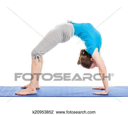 yoga  young beautiful woman doing yoga asana excerise