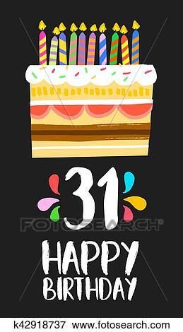 Alles Gute Geburtstag Karte 31 Dreißig Eins Jahr