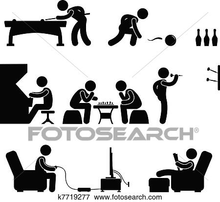A Set Of Pictogram About Club And Other Leisure Activity