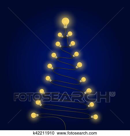 Colorful Christmas Background Design.Colorful Light Bulbs And Christmas Tree Symbol Merry Christmas Abstract Background Design For Christmas Postcard Merry Christmas Icon Logo Or