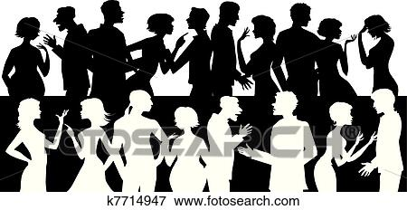 clip art of group of talking people k7714947 search