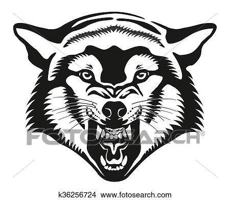 Dibujos Lobo Head K36256724 Buscar Clip Art Ilustraciones De