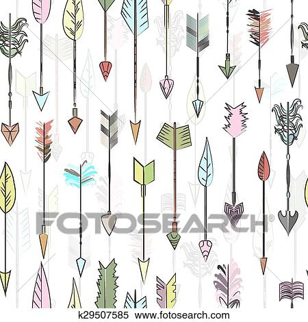 Clipart - mano, dibujado, coloreado, vector, flechas, collection ...