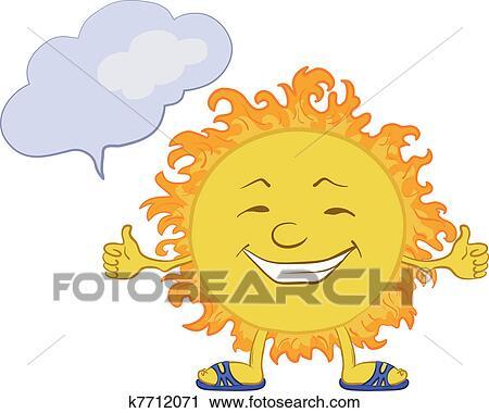 Sun Smiley Clipart K7712071 Fotosearch