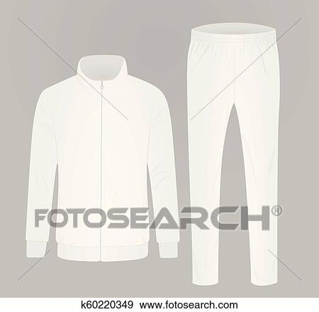 347b8fb7ba90 Clip Art of White tracksuit k60220349 - Search Clipart