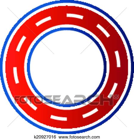 clip art of circle race circuit image car road k20927016 search rh fotosearch com racing track clipart race track clipart images