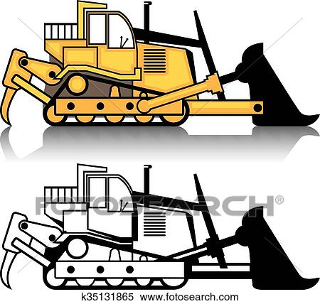 clipart of dozer k35131865 search clip art illustration murals rh fotosearch com bulldozer clipart free bulldozer clipart vector