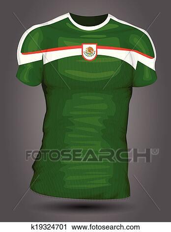e45df34f879 Mexico soccer jersey Clipart | k19324701 | Fotosearch;
