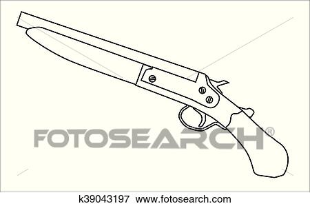 Dessin Fusil De Chasse clipart - réduire, fusil chasse k39043197 - recherchez des cliparts