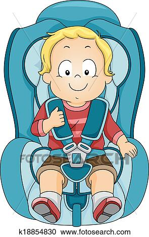 Clipart Of Toddler Car Seat K18854830