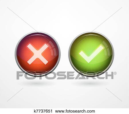 Clipart Of 3d Buttons Yesno K7737651 Search Clip Art