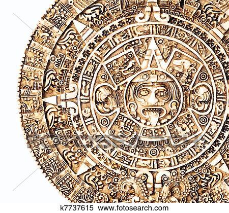 Calendario Azteca Vectores.Azteca Calendario Coleccion De Ilustraciones