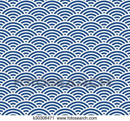 Japanese Wave Pattern Clip Art K30306471 Fotosearch
