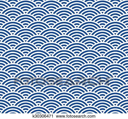 clipart of japanese wave pattern k30306471 search clip art rh fotosearch com Japanese Borders Clip Art Ocean Wave Clip Art