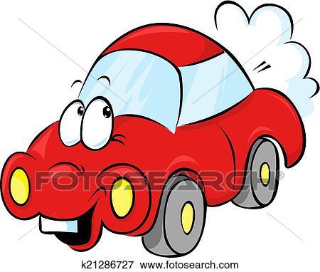 clipart rigolote voiture rouge dessin anim k21286727 recherchez des cliparts des. Black Bedroom Furniture Sets. Home Design Ideas