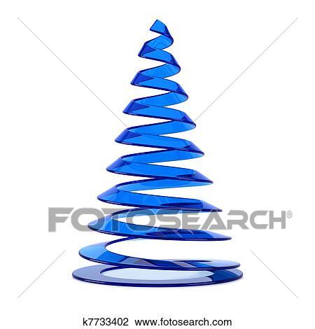 Immagini Natalizie Stilizzate.Stilizzato Albero Natale In Vetro Blu Disegno