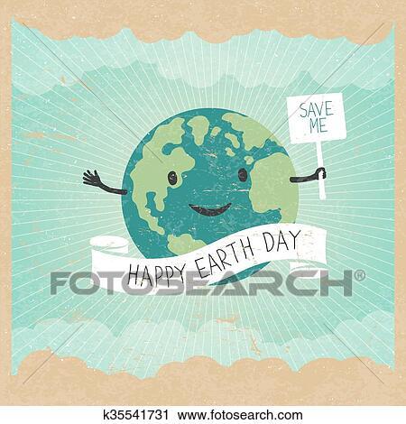 Clipart Cartone Animato Terra Illustration Pianeta Sorriso E