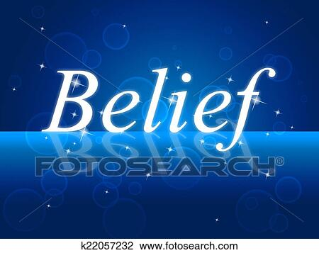 La Credenza Significato : Clip art credere parola rappresenta belive in te stesso e