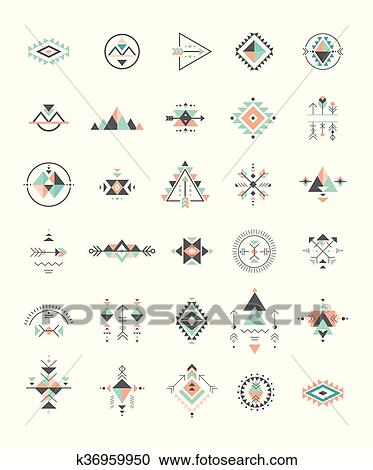 Clipart Of Esoteric Alchemy Sacred Geometry Tribal And Aztec