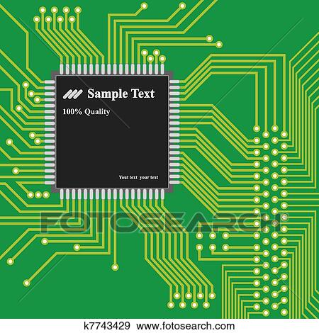 vector high technology background computer circuit board