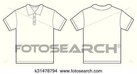 Clipart of White Polo Shirt Design Template For Men k31478794 ...