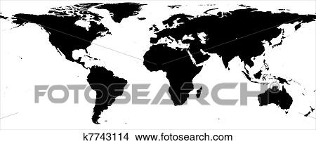 Drawings of world map black and white border k7743114 search drawing world map black and white border fotosearch search clip art illustrations gumiabroncs Gallery