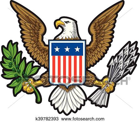 clipart of american eagle eps k39782393 search clip art rh fotosearch com