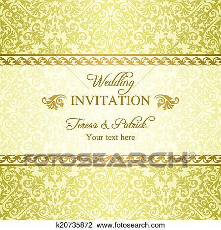Clipart Barock Hochzeitskarten Gold K20735872 Suche Clip Art