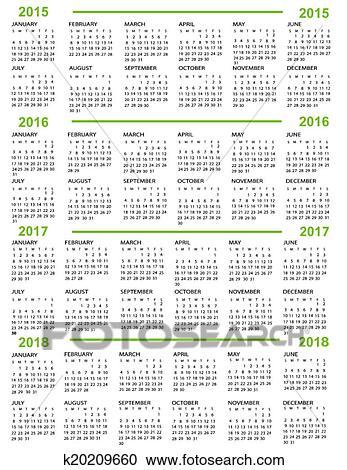 Calendario Anno 2015.Calendario Anno Nuovo 2015 2016 20 Clipart