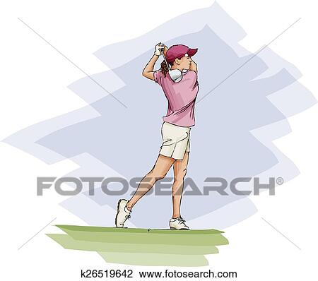 Golfer Silhouette Png , Png Download - Girl Golf Png Clipart (#2785561) -  PikPng