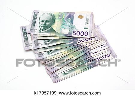 Stock Photograph Heap 5000 Serbian Dinar Banknotes Fotosearch Search Photography Posters