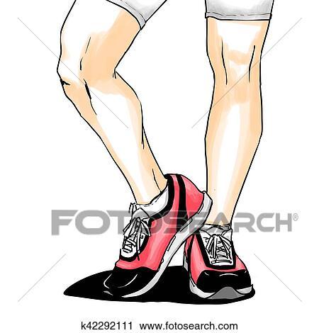 Clipart jogging running, k42292111 chaussures, espadrilles k42292111 running, 71afe1