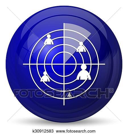 Radar Symbol Zeichnung K30912583 Fotosearch