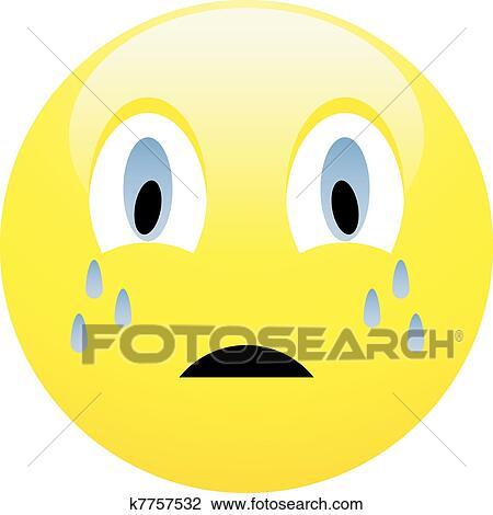 Sad emoticon Clipart