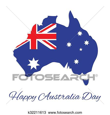 Australia Map Clipart.Australia Map For Australia Day Clipart