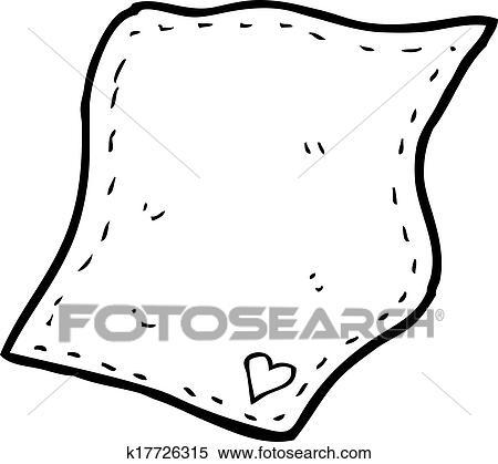 clipart of cartoon handkerchief k17726315 search clip art rh fotosearch com hanky clipart hanky clipart