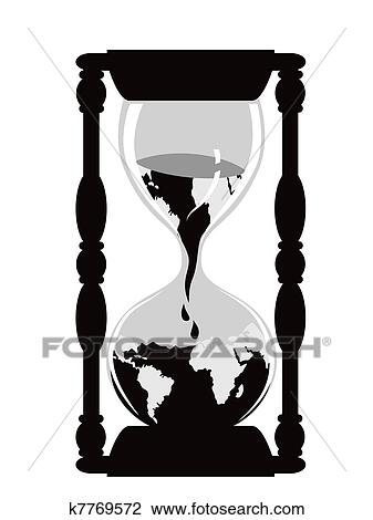 clipart of earth hourglass k7769572 search clip art illustration rh fotosearch com clipart hourglass timer hourglass clipart gif