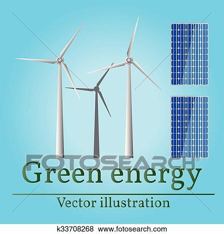 Eco energy  Green energy  Wind energy  Solar energy  Vector  Eco energy  drawing  Eco energy graphic  Eco energy art  Eco energy JPG  Eco energy  JPEG
