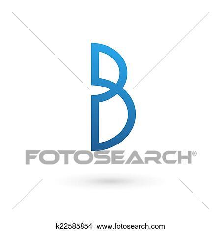 clipart letra b logotipo ícone k22585854 busca de ilustrações