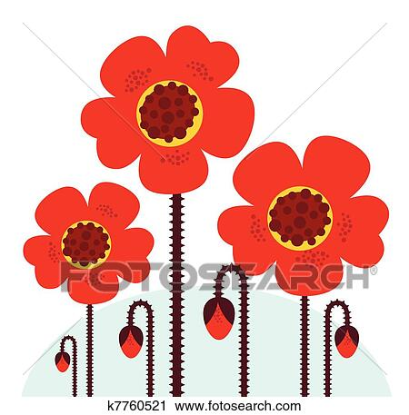 Clipart of remembrance day symbol red poppy flowers isolated on clipart remembrance day symbol red poppy flowers isolated on white fotosearch search mightylinksfo